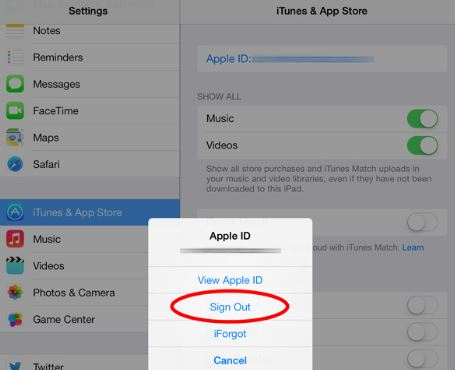 How to sign out iTunes account or Apple ID account on your IPhone