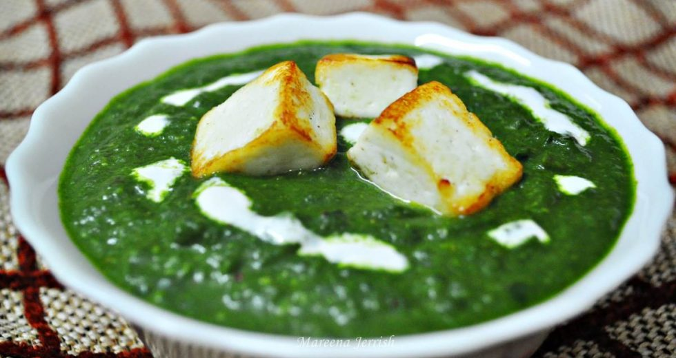 Spinach with Paneer Cheese (Palak Paneer)