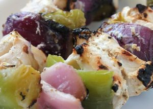 Marinated Greek Chicken Kababs