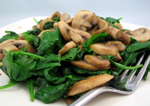 How to make Italian Spinach and Mushrooms